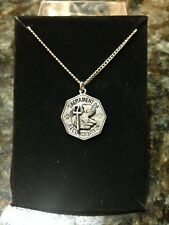 """""""RECONCILIATION"""" Pewter Finish Pendant 18"""" Stainless Chain. NEW in box."""