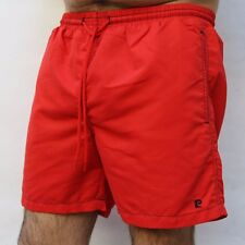 Pierre Cardin Swim Bath Suit Shorts Red Casuals Polyester L Large VTG 90s NICE