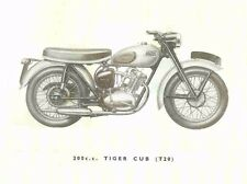New listing Triumph Tiger Cub Manuals 110pg for T20 T20C Motorcycle Repair Service & Tuning
