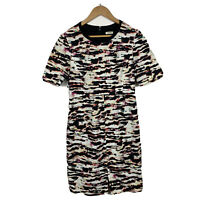 Marcs Womens Pencil Dress Size 12 Waterfall Multicoloured Short Sleeve