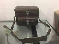 Vintage Leather Camera Bag Metal Buckle Carry Case Shoulder Strap