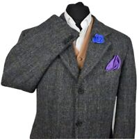 Harris Tweed BARUTTI Country Tailored Hacking Jacket 46S #725 STUNNING GARMENT