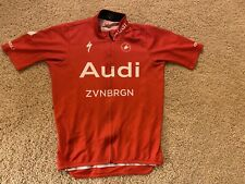 Audi Cycling Team Castelli Podio Ss Road Jersey Red Men's Small S