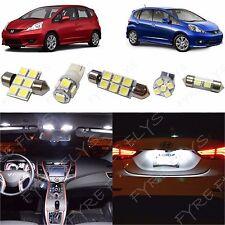6x White LED lights interior package kit for 2009-2013 Honda Fit HF1W