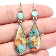 Long Opal Turquoise Dangle Drop Earring Ear Stud Hooks Earrings WomenJewelry CSU