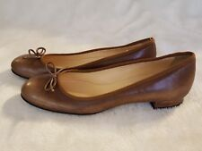NEW LUCIANO PADOVAN Camel Ballet Flats 37 7 6.5 Brown Shoes Moccasins Italy