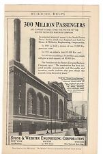 1916 Stone & Webster Engineering Corporation Advertisement