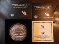 2013-P NQ5 WHITE MOUNTAIN AMERICA THE BEAUTIFUL 5oz SILVER COIN