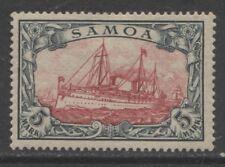 1901 German colonies SAMOA  5 Mark Yacht issue  mint*   $ 270.00