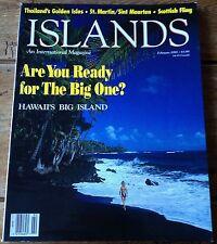 ISLANDS An International Magazine Jan/Feb 1991 VG Condition Hawaii's Big Island