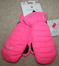 New! Girls Spyder Performance Ski Gloves/Mittens (Thinsulate; Pink) Size Medium