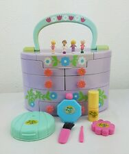 Vintage Polly Pocket Pullout Playhouse Make Up box with Dolls and Make up