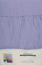 DOUBLE BED PLATFORM / BASE VALANCE SHEET LILAC POLYCOTTON 180 THREAD COUNT