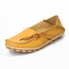 Fashion Women Genuine Leather Casual Bowed Flat Shoes Moccasin Soft Loafers