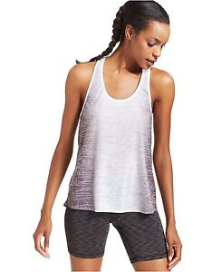New IDEOLOGY Women's Ombre-Print Stretch T-Back Burnout Tank Top Gym Yoga Active
