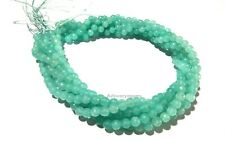 """5 Strands Aqua Chalcedony Round 5.5-6mm Faceted Ball Gemstone Beads 14""""Inch"""