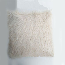 Luxury Soft Faux Fur Fleece Cushion Cover Pillowcase Pillow Sham White 45x45CM