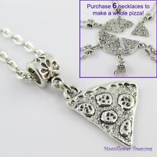 1,2,3,4,5 or 6 Pizza Slice Charm Best Friends BFF Friendship Necklace Pick Qty