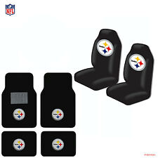 New NFL Pittsburgh Steelers Car Truck  Seat Covers & Carpet Floor Mats Set