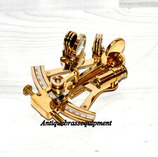 """LOT OF 10 PIECES VINTAGE 4"""" BRASS NAUTICAL SEXTANT ASTROLAB SHIP's INSTRUMENT"""