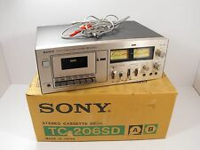 Sony TC-206SD Stereo Cassette Tape Recorder Deck w/ Original Box (Parts/Repair)
