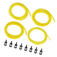 4pcs 5 feet Petrol Fuel Gas Line with 8pcs Fuel Filter For Trimmer Chainsaw