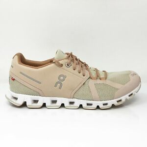 On Womens Swiss Engineering Cloudterry Beige Running Shoes Lace Up Size 8
