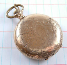 Antique 1913 Ladies Elgin Pocket Watch Fancy Gold Filled Hunter Case