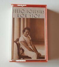 JULIO IGLESIAS 'Non Stop' Cassette Album 1988 Tape MC RARE Orange
