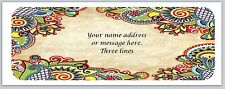 30 Personalized Return Address Labels Paisley Buy 3 get 1 free (bo 469)