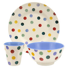 Unique Emma Bridgewater 3-Piece Polka Dot Melamine Set Plate Bowl Beaker