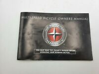 1999 Schwinn Bicycle OWNERS MANUAL Multi-speed bikes bicycles Pacific-Cycle LLC