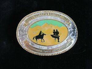 Creative Castings Belt Buckle 2004 Rocky MT Round Up 53rd National Square Dance