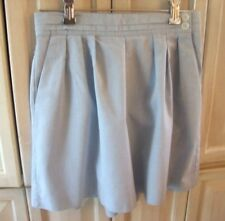 Vintage 80's Blue HIgh Waisted Pleated Cotton Dress Shorts Size 7/8