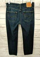 Levis Men's 514 Slim Straight Leg Jeans - Dark Wash - Size 34 x 29.5