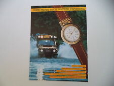 advertising Pubblicità 1991 CAMEL TROPHY WATCH GREEN BELT