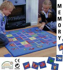 """""""MEMORY Training"""" Spielteppich Teppich 92x92 cm mit 36 Karten NEU"""
