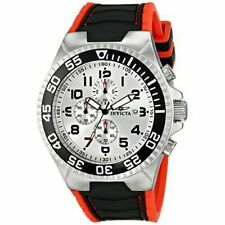 Invicta Pro Diver 52mm Stainless Steel Silver Case Polyurethane Red Strap (12411)