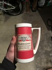 Vintage Plastic Budweiser Beer Mug Cup Stein West Bend Thermo Serv Made Usa Bud