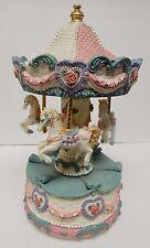 Music Box Merry-Go-Round Musical Figurine Horse Carousel Vintage