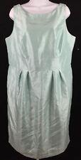 Dressbarn Dress Shiny Mint Green Cocktail Dressbar Dress with Pockets Size 16