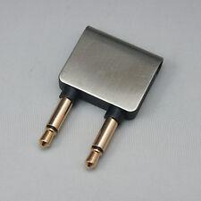 A Aviation Plugs Adapter 3.5 Mono Stereo Jack to 2*3.5 Mono Plugs for AKG K3003
