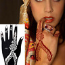 India Henna Temporary Tattoo Stencils Kit For Hand Body Art Decal Stickers Decor