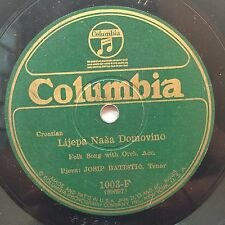 Josip Batistic - Lijepa Nasa Domovino / Junak Iz Like on Columbia Croatian 78rpm