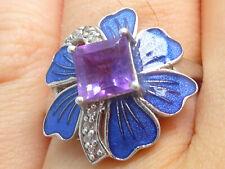 Ring Silberring 925 SILBER Sterling Art Deco Amethyst Zirkonia Jugendstil