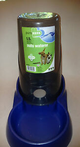 Pureness 1.5 Liter Pet Auto Waterer Drink Dispenser, for Small Cats/Dogs