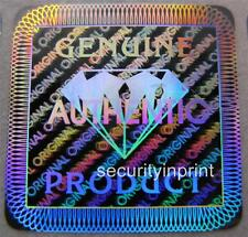 """392 """"GENUINE"""" """"Diamond"""" Hologram Security stickers labels 19X19mm S19-1S"""