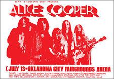 ALICE COOPER 1972 Oklahoma City Concert Poster