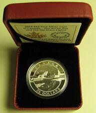 2014 Proof $25 O Canada #5-Arctic Fox Northern Lights 1oz .9999 silver twenty-fi