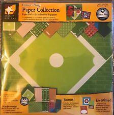 Game Day Sports scrapbook Cardstock Football Baseball Soccer Paper Kit 12 x12